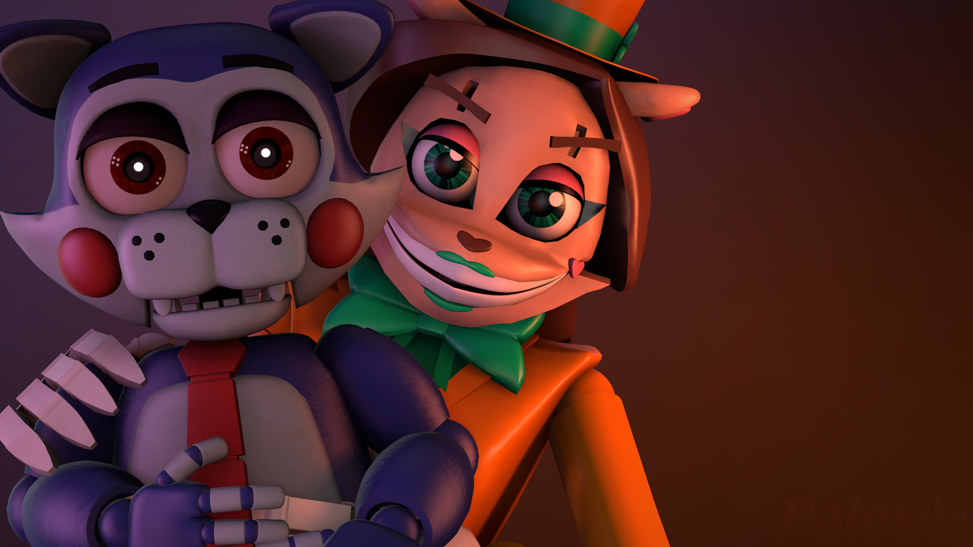 Fnaf Sfm Wallpaper Netty And Adventure Candy By Dafomin On Deviantart