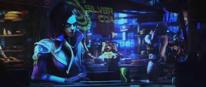 [SFM Overwatch]- Sombra cyberpunk