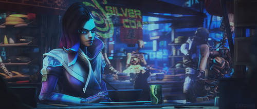 [SFM Overwatch]- Sombra cyberpunk by Dafomin