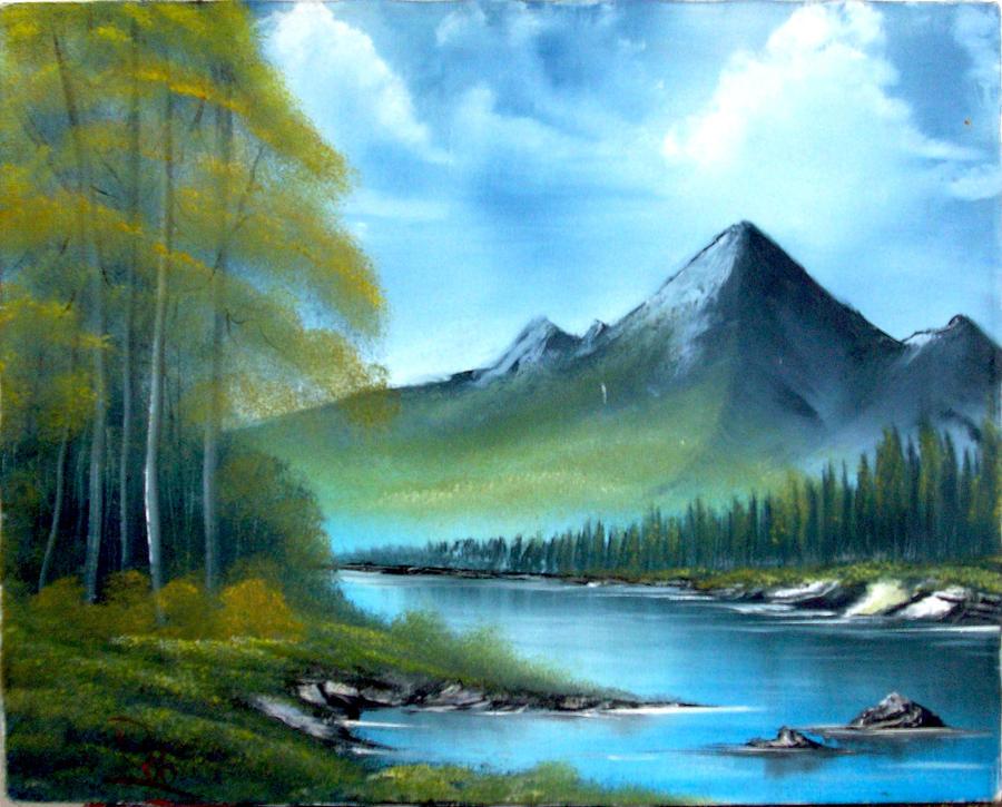Mountain Scene 3 by JR-Burgos on DeviantArt