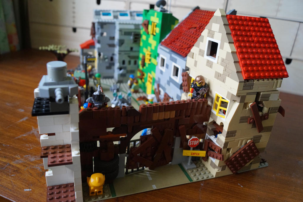 lego fallout city moc side view by kabhes on DeviantArt