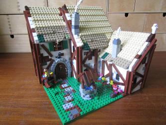 Lego moc inn (outside) by kabhes