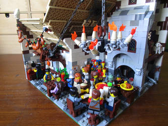 Lego moc inn (inside) by kabhes