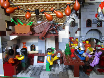 Lego moc inn (kitchen/bar) by kabhes