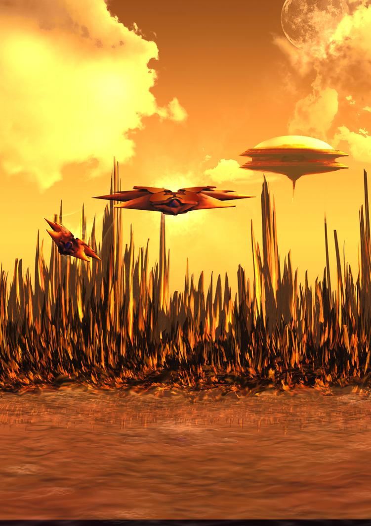 Orange Planet by fraxco74