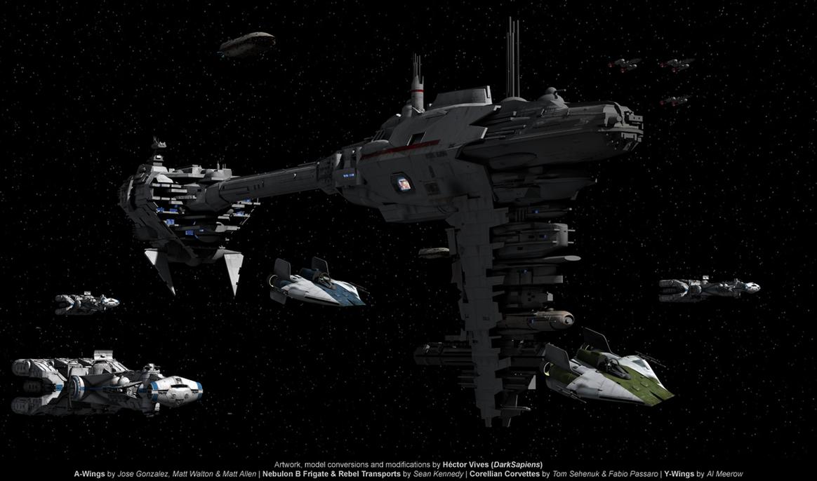 Rebels Fleet by DarkSapiens