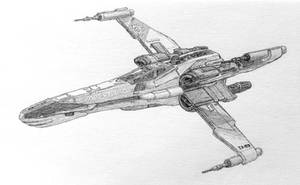 New Republic T-85 X-wing (Graphite only) by DarkSapiens