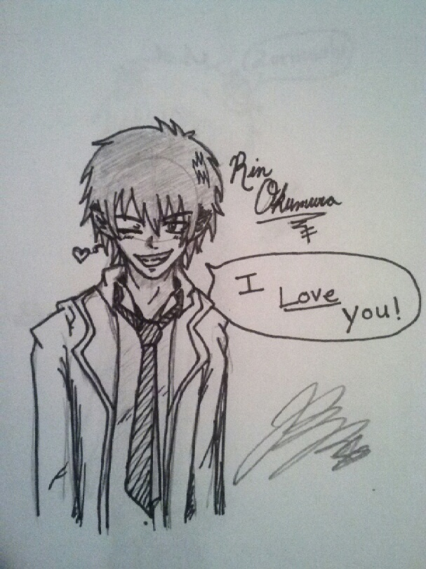 Rin Okumura Doodle by DemonsRuleThisWorld