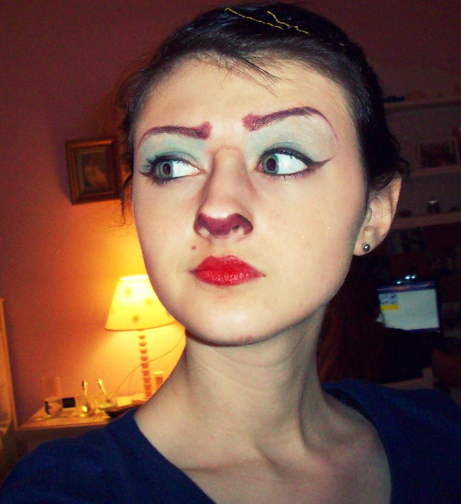 captain amelia makeup test 1 by daisydaisydoom