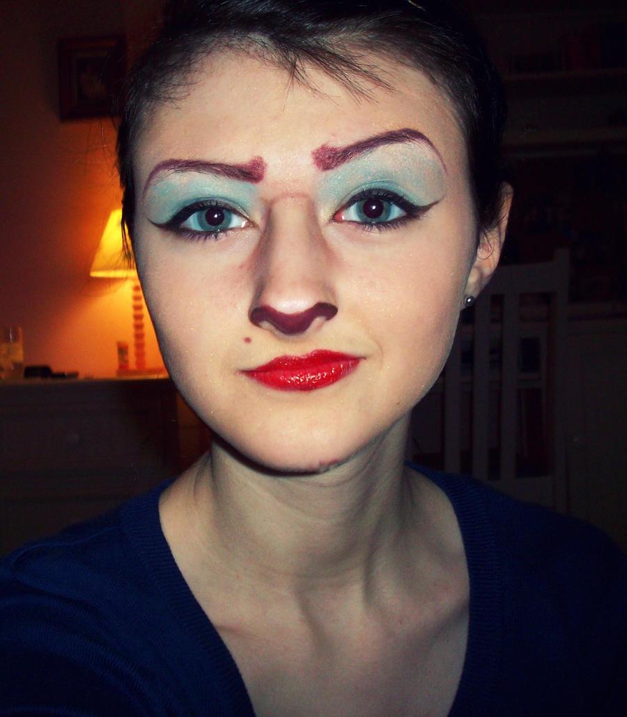 captain amelia makeup test 3 by daisydaisydoom