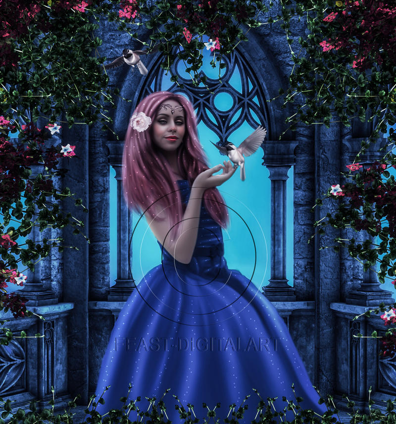 Delightful Princess by Feast-DigitalArt