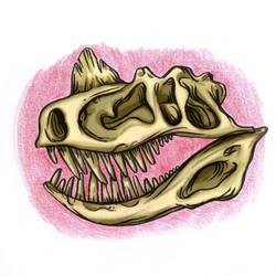 Skull Dinousaur by sebastianpizarro