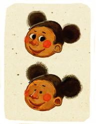 Little Afroamerican Girl by sebastianpizarro