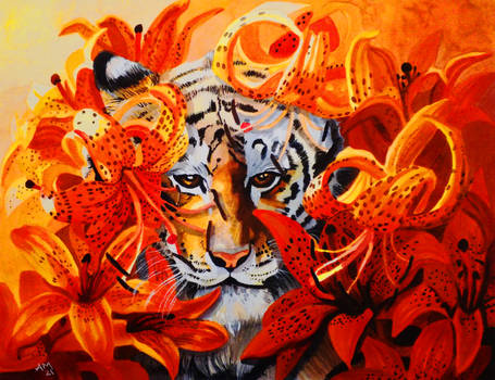 Orange - Tiger and Tiger Lilies