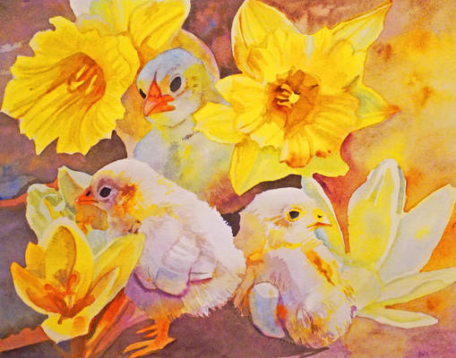 Yellow - Chicks, Crocuses, and Daffodils