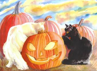 Pumpkin Inspectors by Amaryn-Philomena
