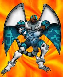 Cyborg Gargified by dominus-noxnoctis