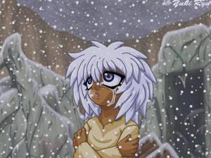 Sad Bakura In Snow