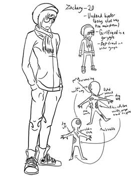 Zachary Lineart Ref Sheet