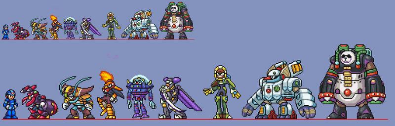 Mega Man X8 Mavericks Sprites