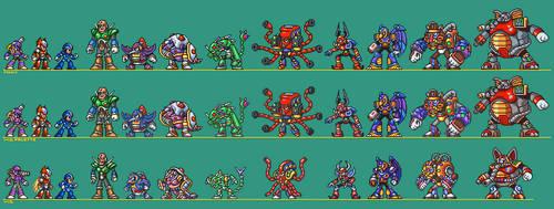 Mega Man Maverick Hunter X Style Sprites