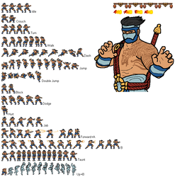 Jago ''Rivals of Aether'' Sprites [Unfinished]