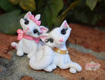 Polymer Clay Dutchess and Marie Aristocats