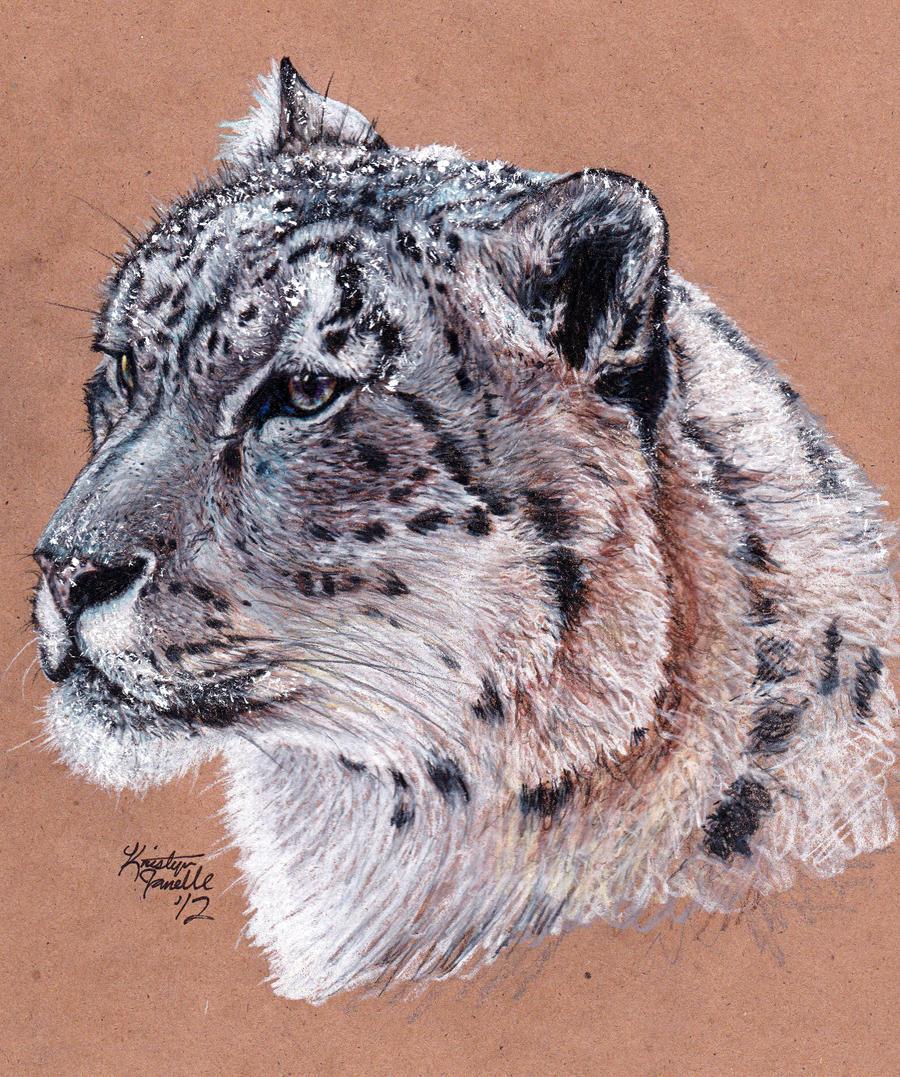 Commission - Snow Leopard by KristynJanelle