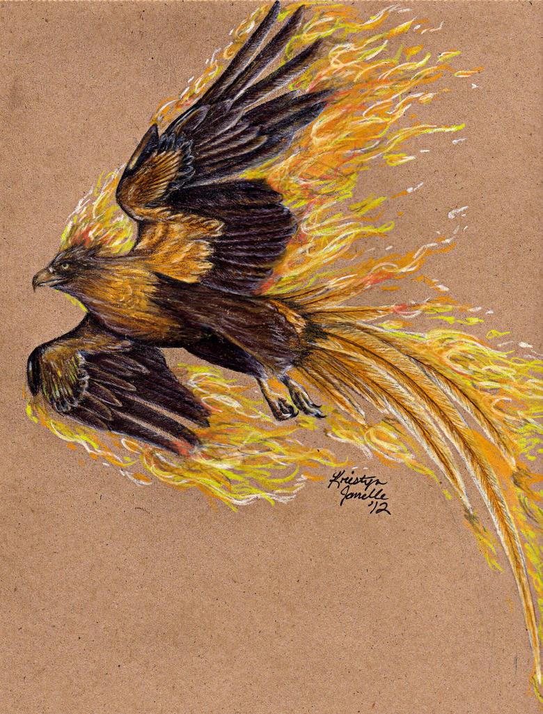 Golden Phoenix by KristynJanelle