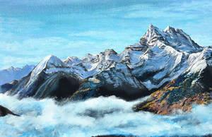The Swiss Alps by KristynJanelle