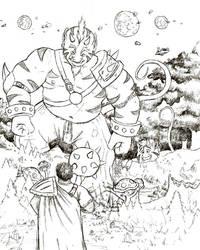 Titan warrior by Bareck