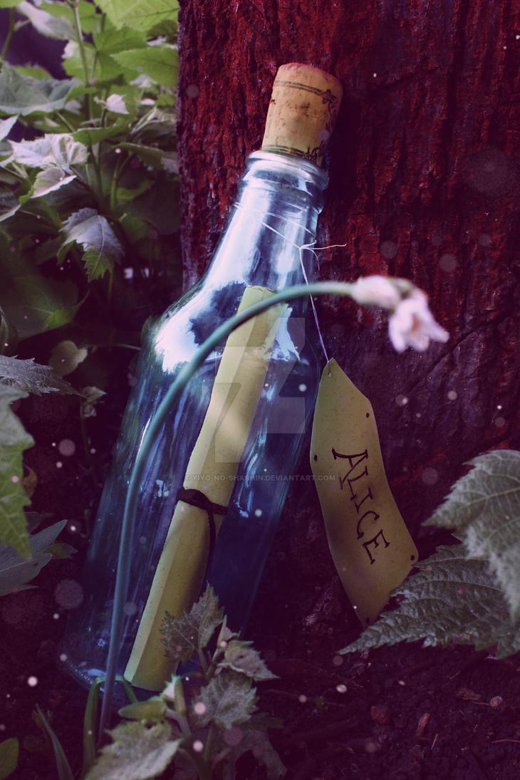 a blue bottle by Yiyo-no-Shashin