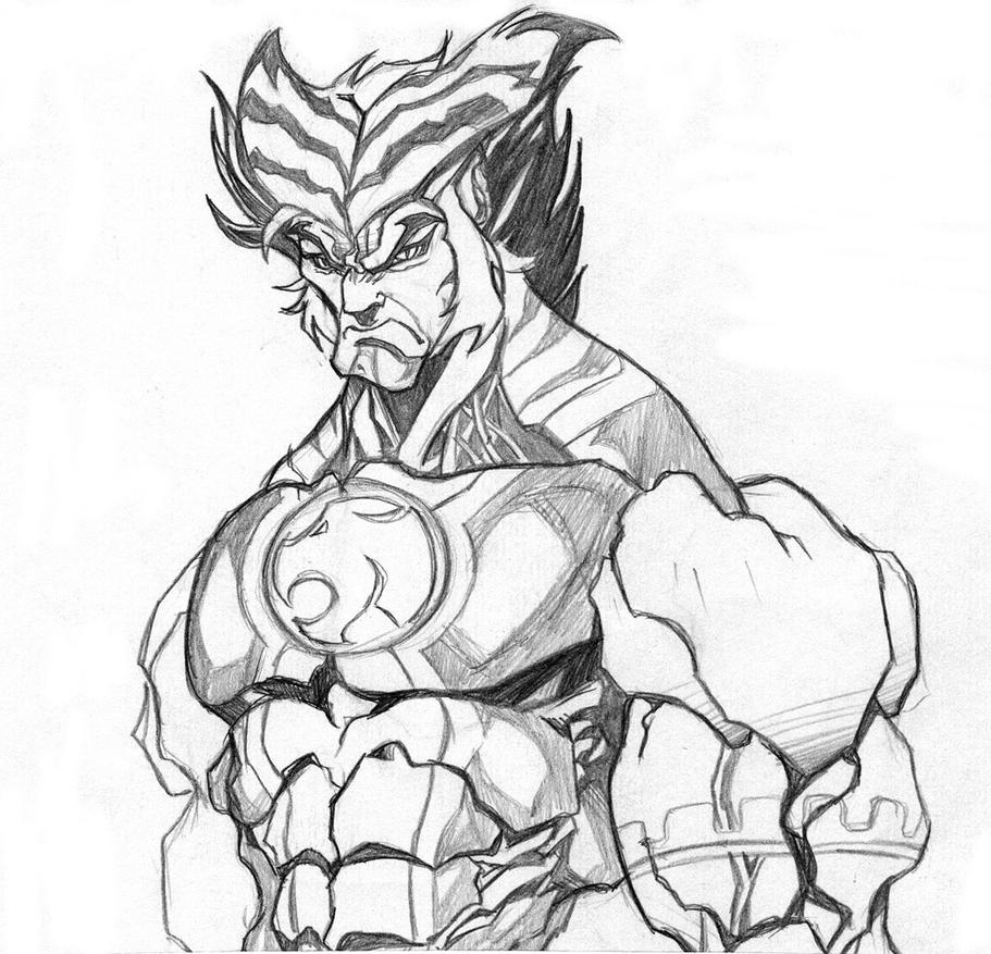 thundercats tygra by wolf signs - Thunder Cats Coloring Book Pages