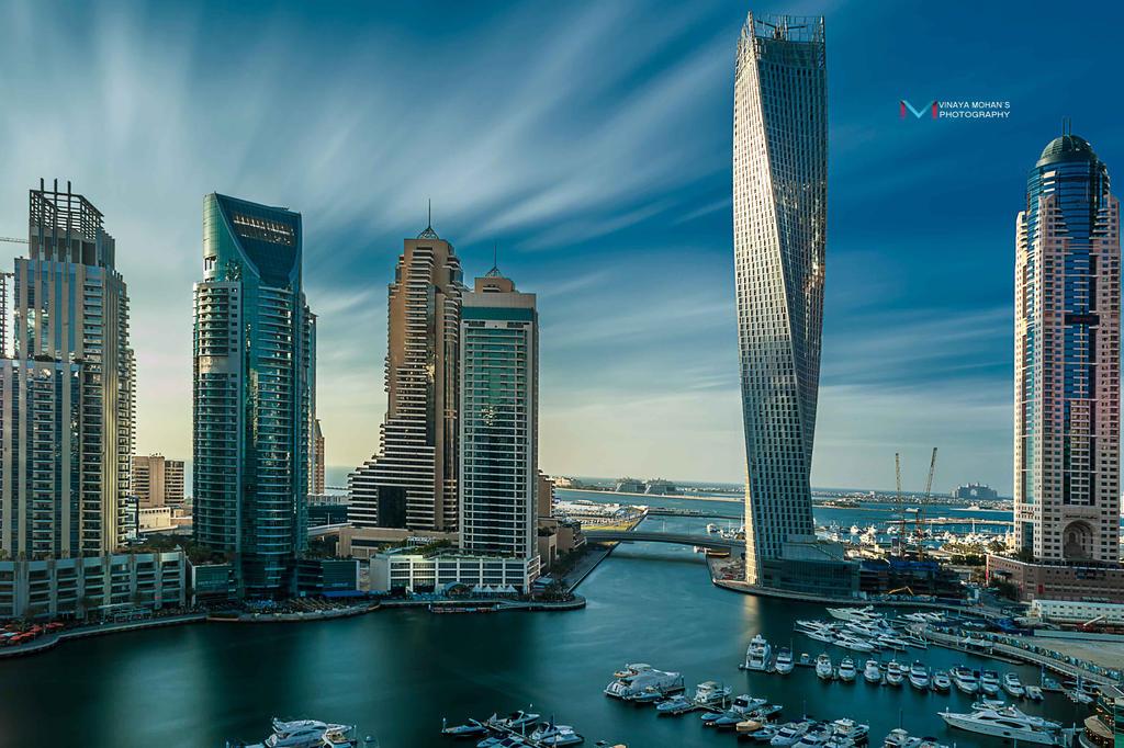 Dubai Marina Long exposure shot by vinayan