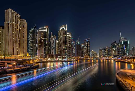 Dubai Marina Long exposure shot 2
