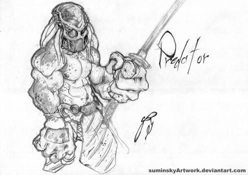 predator with mask