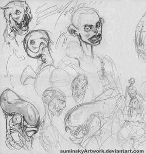 aliens concept plus toothy girl