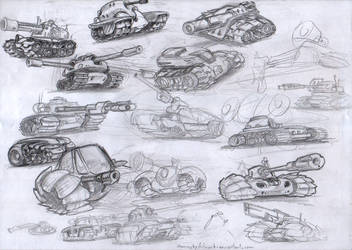 Tank Sketches by SuminskyArtwork