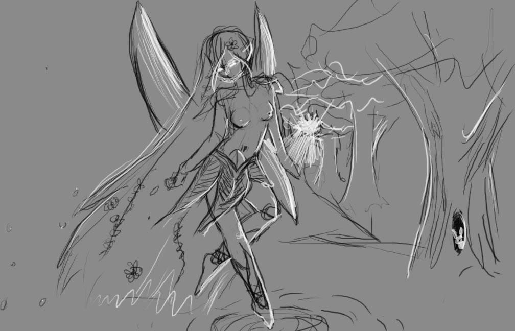 Digital doodle: Elfthing by cirrus13