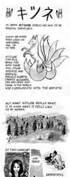 Kitsune - japanese fox myth by Lysycja