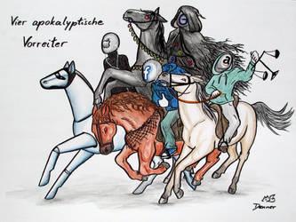 Vier apokalyptische Vorreiter by Lysycja