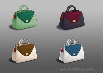 Product Design: Handbags in fancy colours by Lysycja
