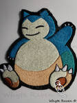 Snorlax Pokemon Embroidery Patch