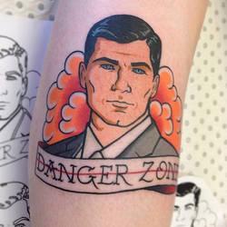 Archer Tattoo by gooneytoonstattoo