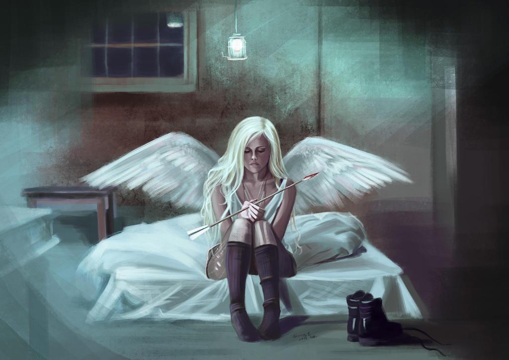 fallen angel wallpaper for mobile