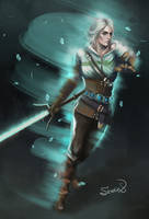 Ciri (The Witcher 3) by Sicarius8