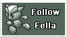 Follow Fella-deviant Stamp by LaAlex