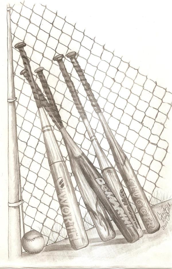 Cool softball drawings
