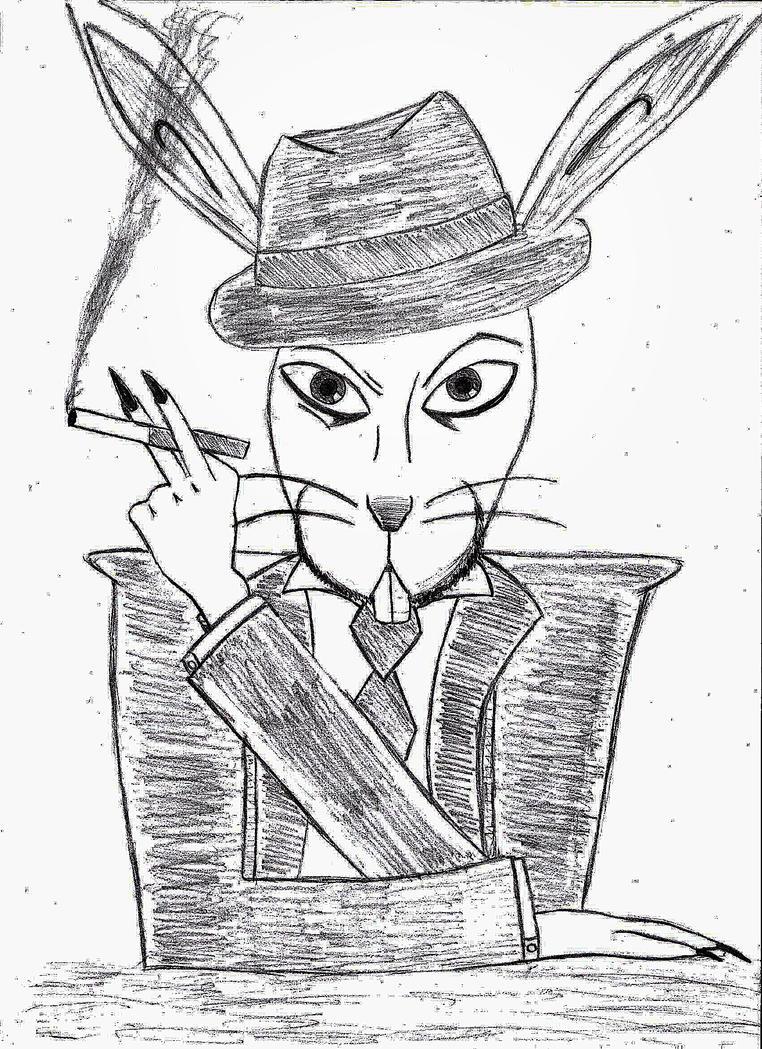 mafia rabbit by servusgrunt on deviantart