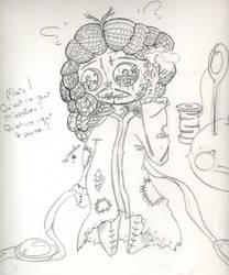 [Fan art] : Croquis : Creepy Vaudou Lennon. by juliabakura